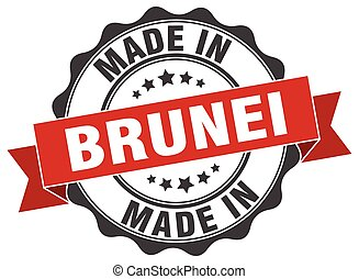 made in Brunei round seal