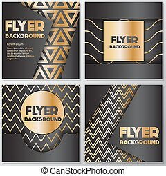 Gold banner background flyer style Design Template,Vector...