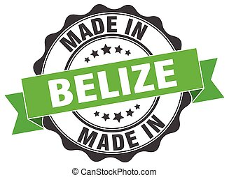 made in Belize round seal