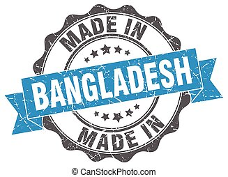 made in Bangladesh round seal
