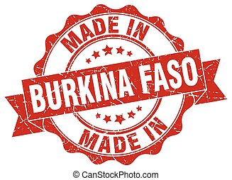 made in Burkina Faso round seal