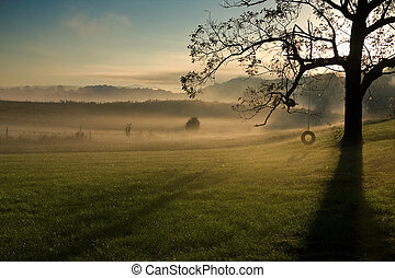 Tennessee Landscape - Early morning Tennessee landscape at...