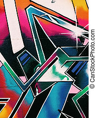 Graffiti wall background. Urban street art design