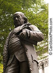 Ben Franklin Statue in Boston.