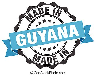made in Guyana round seal