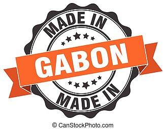 made in Gabon round seal