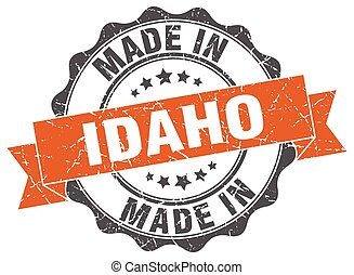 made in Idaho round seal