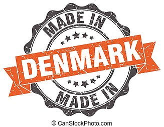 made in Denmark round seal