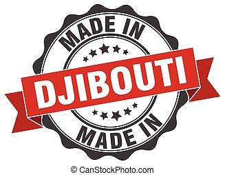 made in Djibouti round seal