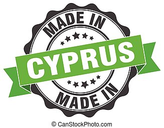 made in Cyprus round seal
