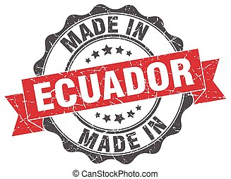 made in Ecuador round seal