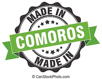 made in Comoros round seal