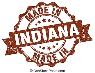 made in Indiana round seal