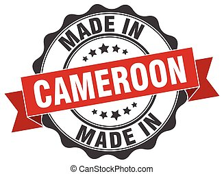 made in Cameroon round seal