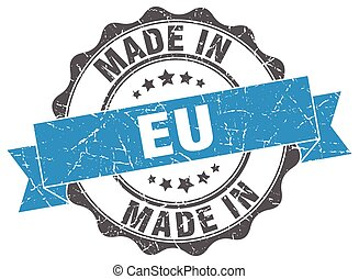 made in eu round seal