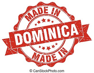 made in Dominica round seal
