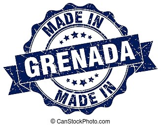 made in Grenada round seal