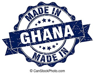 made in Ghana round seal