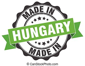 made in Hungary round seal