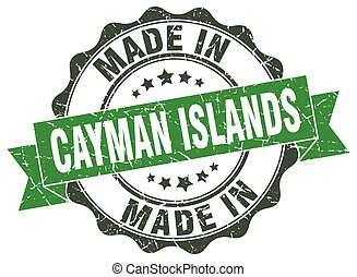 made in Cayman Islands round seal
