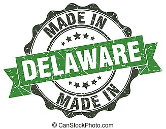made in Delaware round seal