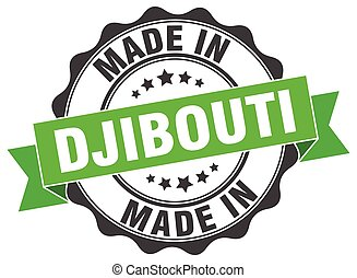 made in Djibouti round seal