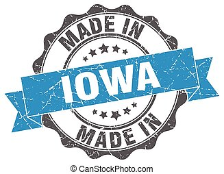 made in Iowa round seal