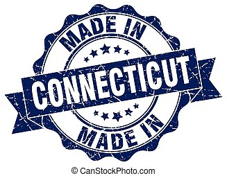 made in Connecticut round seal