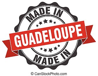 made in Guadeloupe round seal