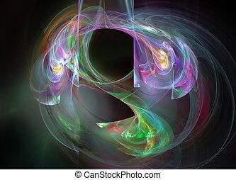 digital fractal on black background
