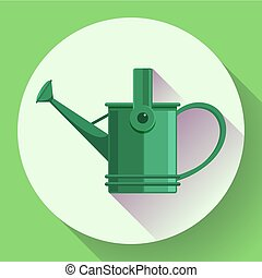 Watering can icon. Irrigation symbol. Flat Vector...
