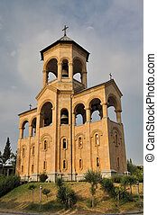 Tbilisi Sameba Cathedral - freely-standing bell-tower -...
