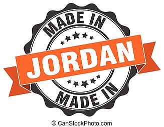 made in Jordan round seal