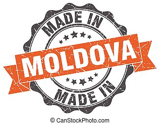 made in Moldova round seal