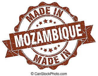 made in Mozambique round seal