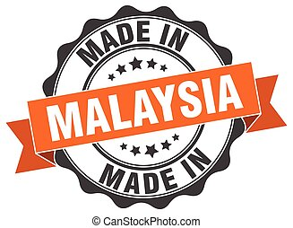 made in Malaysia round seal