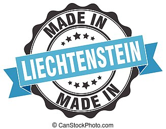made in Liechtenstein round seal