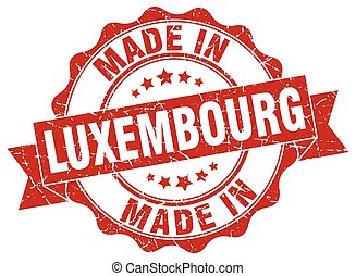 made in Luxembourg round seal