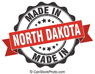 made in North Dakota round seal