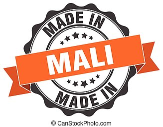 made in Mali round seal