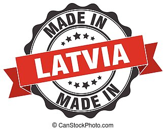 made in Latvia round seal