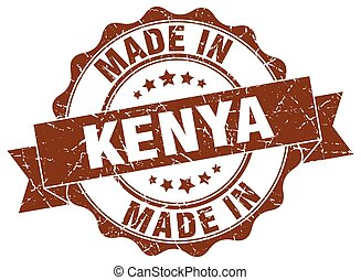 made in Kenya round seal