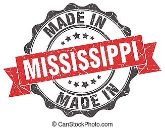made in Mississippi round seal