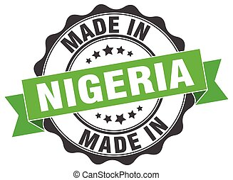 made in Nigeria round seal