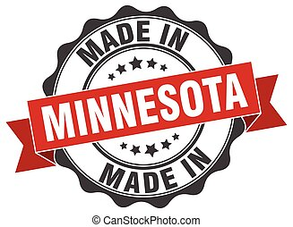 made in Minnesota round seal
