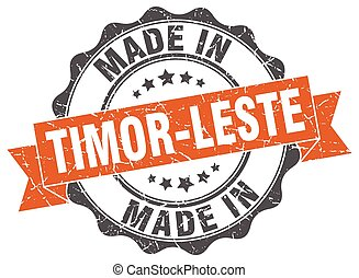 made in Timor-Leste round seal