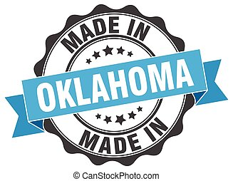 made in Oklahoma round seal