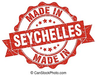 made in Seychelles round seal