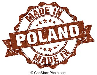 made in Poland round seal