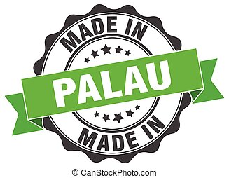 made in Palau round seal